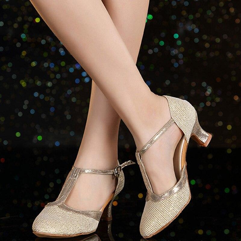Salon dames femmes chaussures de danse latine 5 CM/7 CM talon Salsa Tango chaussures de danse sandales