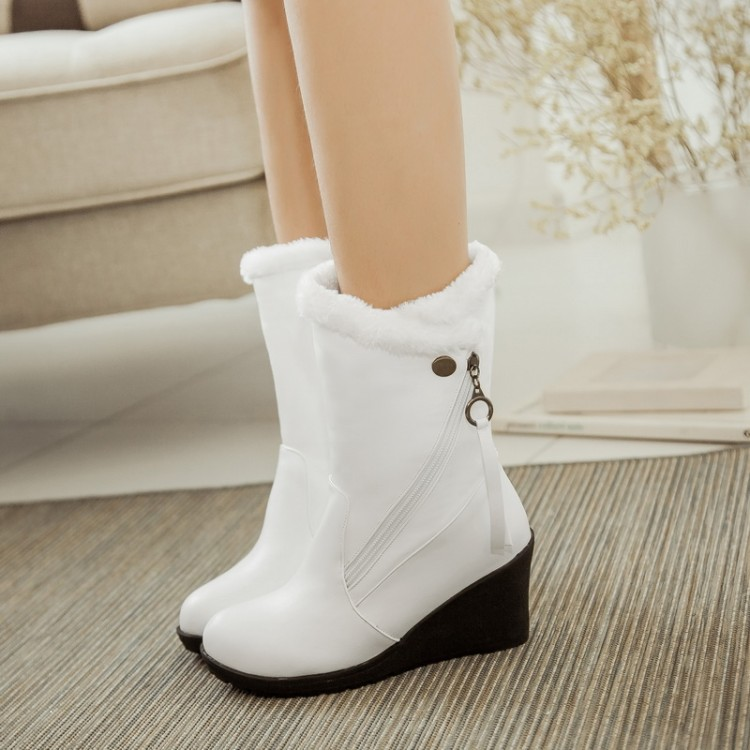 2016 Winter Boots Spuer  Big Size 30-52 Women's Shoes Gladiator Winter Snow Boots Fashion High Heel Warm boots  X-1573