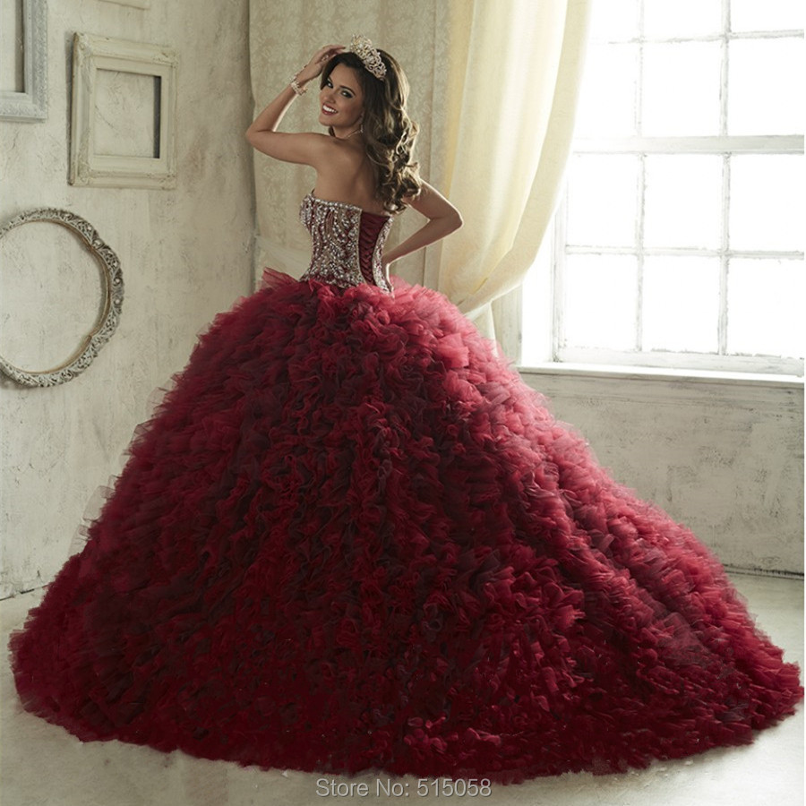 4ac71fc1d4 Burgundy Quinceanera Dresses Ball Gown - Gomes Weine AG