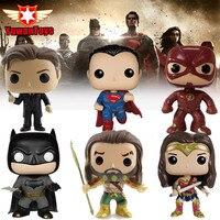 DC Justice League Film Thema Actiefiguren Aquaman Flash Batman Superman Wonder Vrouw Bobble Head Q Edition Collectie Speelgoed