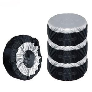 Image 2 - 1 Stuks Tire Cover Case Auto Reservewiel Cover Opbergzakken Carry Tote Polyester Band Voor Auto Wiel Bescherming Covers 4 Seizoen
