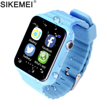 SIKEMEI Kids GPS Smart Watch Safe Watch Phone Location Finder Tracker Camera Anti-lost SOS Call Waterproof V7K for Android iOS