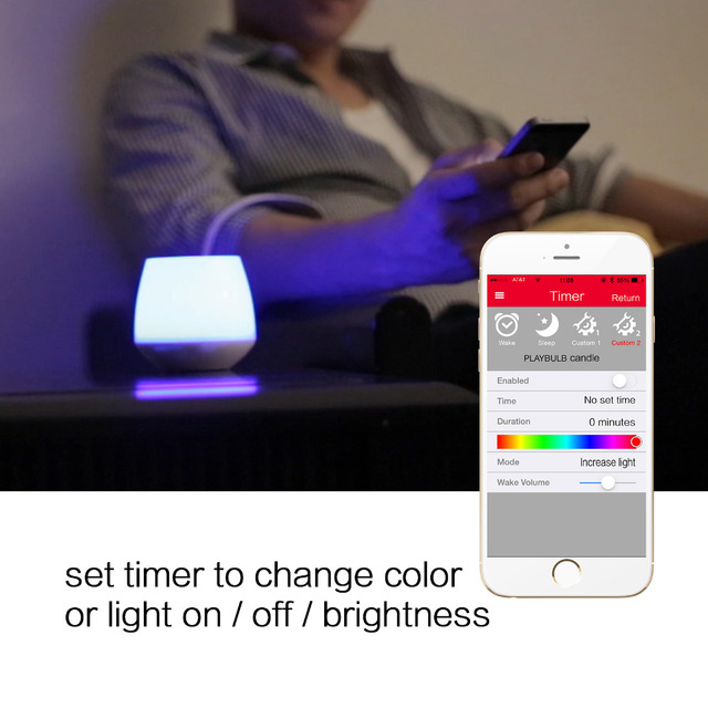 MIPOW PLAYBULB Smart Lights LED Bulb Dimmable Multi Color RGB Wake-Up Wireless Bluetooth with Remote Control  Bulb for Home 5