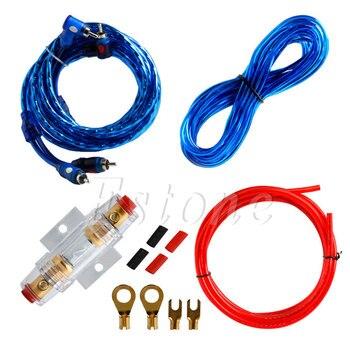 Práctico amplificador de Subwoofer de Audio para coche de 1500W 8GA, Kit de juego de cables portafusibles