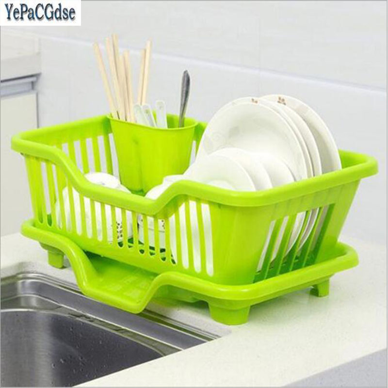 Kitchen Storage Racks Sink Dish Drainer Rack Washing Holder Basket Organizer Tray Home Organization Holders
