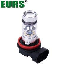EURS (TM) luzes de nevoeiro LED Carro H1 H4 H7 H8 H9 H11 9005 9006 Automóvel Faróis de alta potência de 100 W super brilhante 6000 K lâmpadas durante o dia