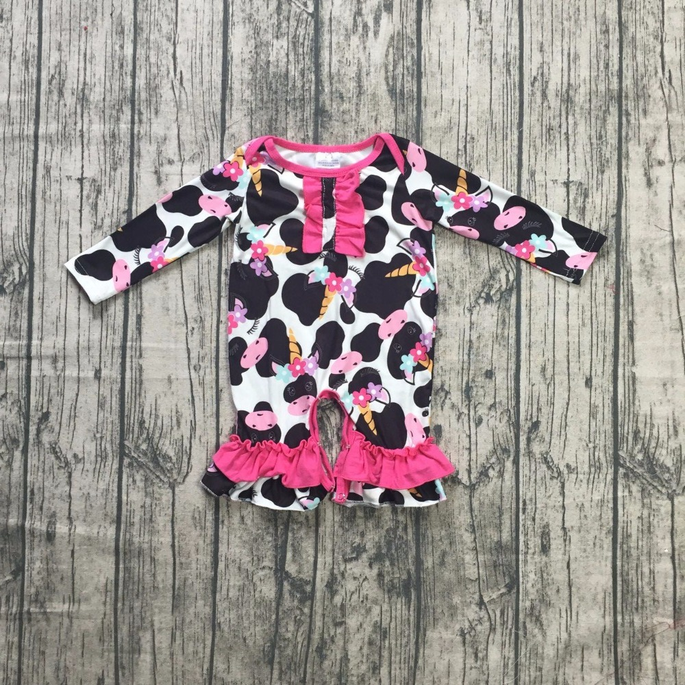 86265fc01e12 girls FALL Winter jumpsuits children romper infant toddler baby girls  cowgirls print romper outfits long sleeve