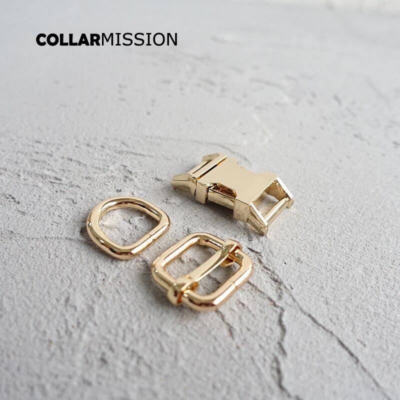 20 stks/partij 15mm Metal Plated Gesp (Metalen Gesp + Passen Gesp + D Ring/set) voor Rugzak Tas Kat Halsband DIY Accessorys-in Gespen & Haken van Huis & Tuin op  Groep 1