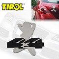 T17394a Aço Inoxidável 4X4 MENINA Emblem Fácil Peel & Vara de Instalação Decoração Auto Adesivo de Carro Frete Grátis Carro emblemas