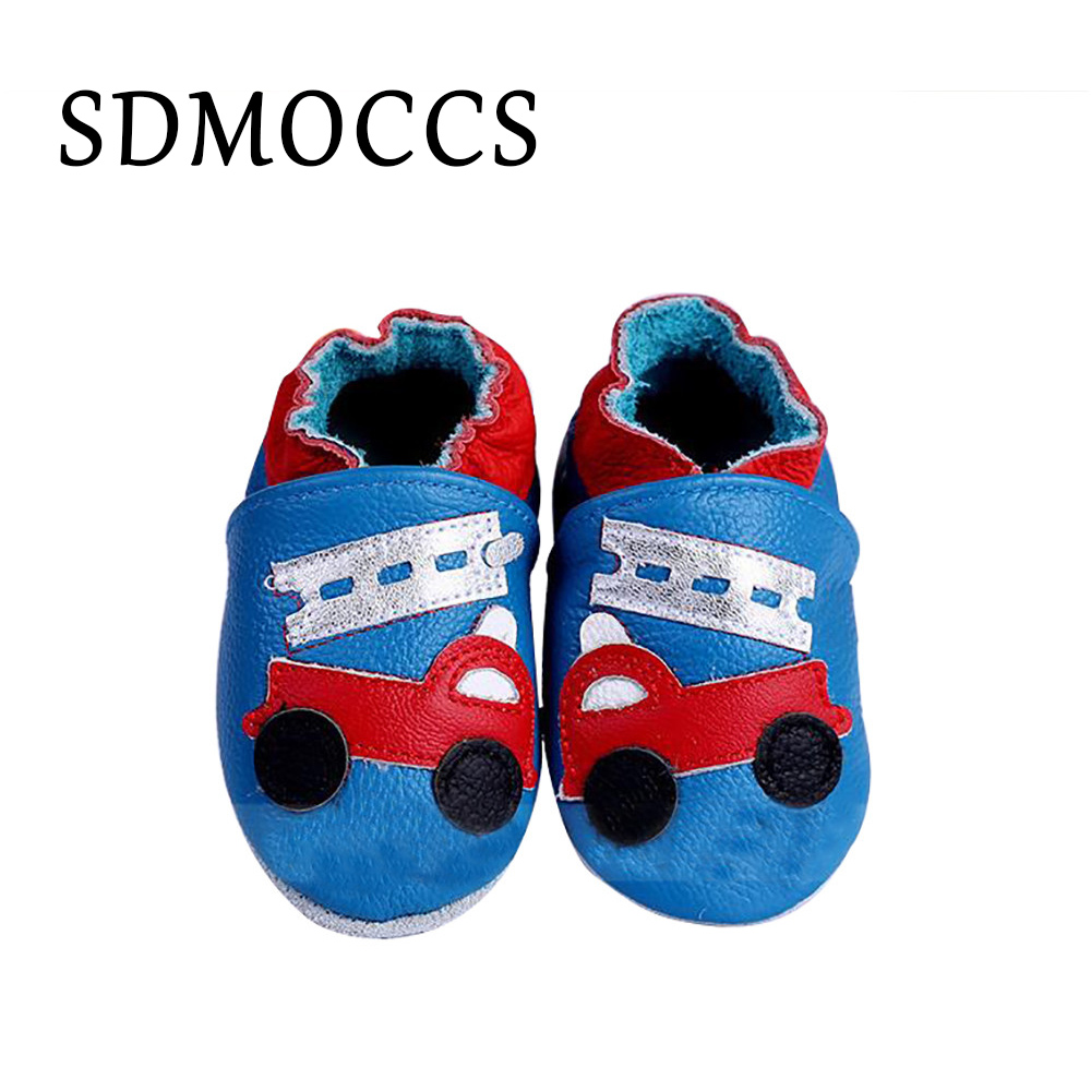 SDMOCCS New Genuine Cow Leather Baby Shoes Toddler Infant Baby Moccasins Soft Sole Girls Boy Shoes Newborn First Walkers 0-24M
