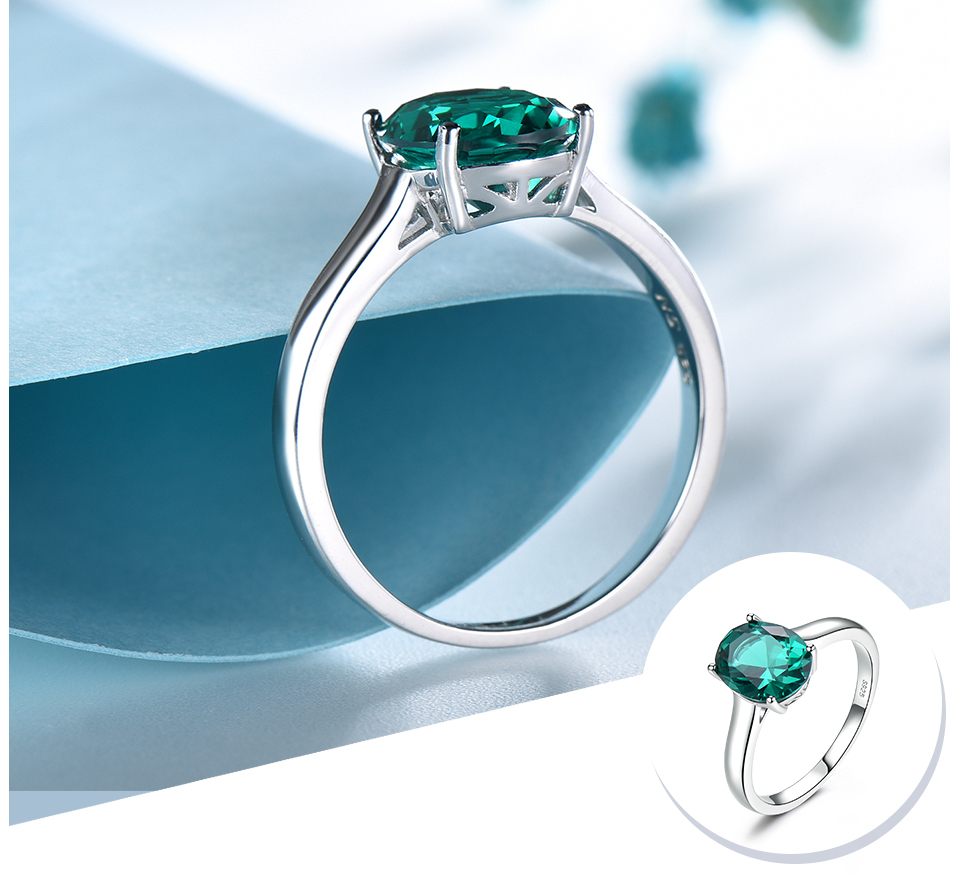 UMCHO ?Emerald   925 sterling silver ring for women NUJ095E-1-pc (4)