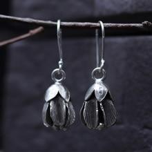 JINSE Vintage 925 Silver Drop Earring Enkianthus Chinensis boucle doreille S925 Sterling Earrings for Women Jewelry