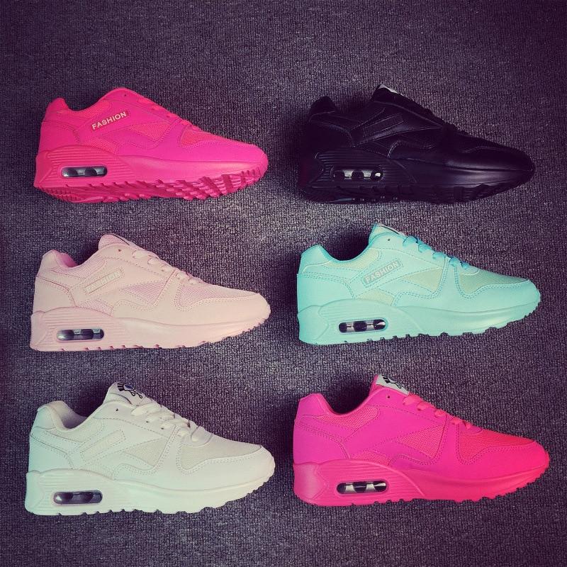 Zapatos deportivos femeninos zapatillas de malla transpirable para - Zapatillas