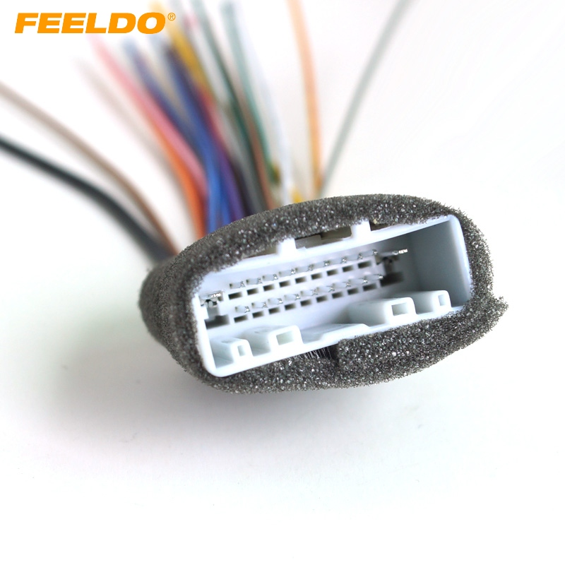 feeldo 1pc car cd audio stereo wiring harness adapter for. Black Bedroom Furniture Sets. Home Design Ideas