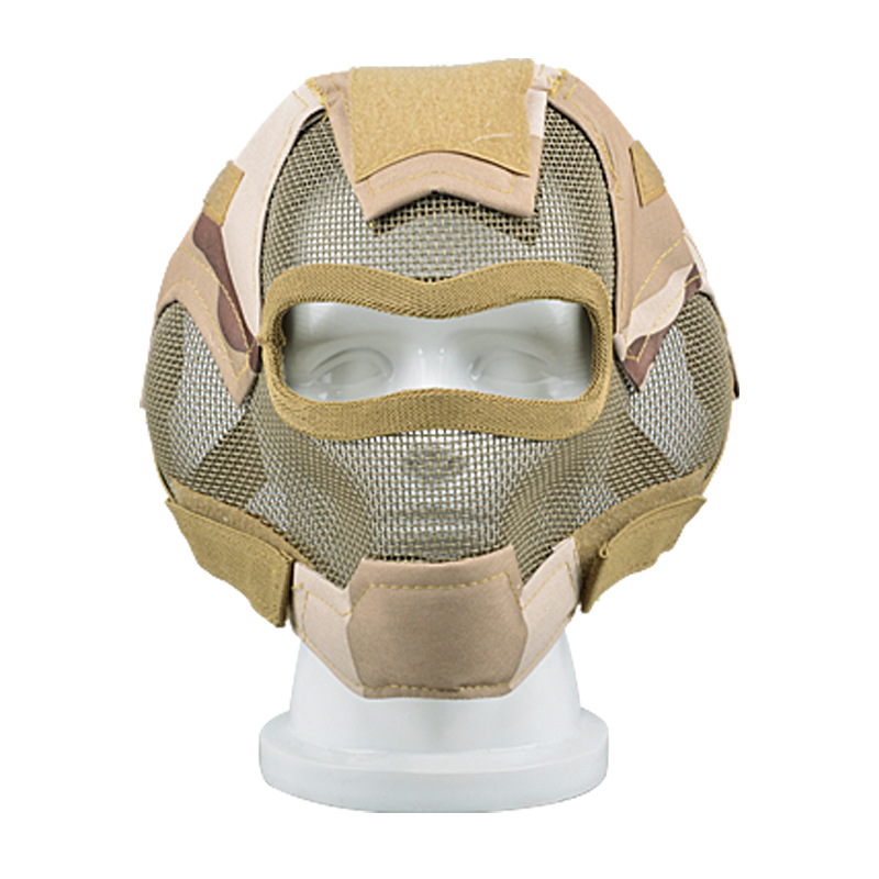 Protective mask, Full face wire mask, outdoor supplies, army, the wild fire protective mask protective outdoor war game eyeglass cover military tactical full face shield mask army green