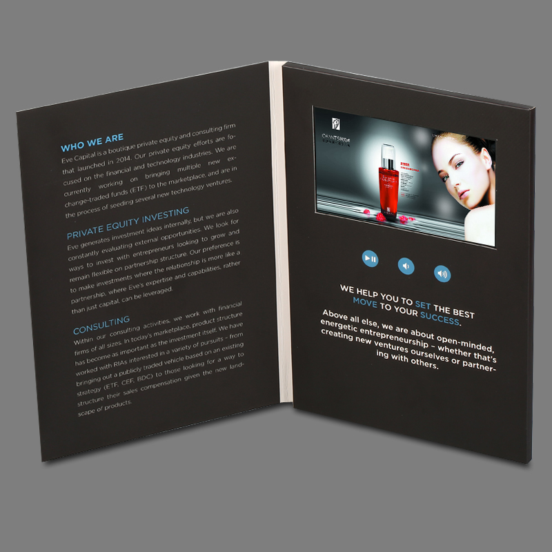 Custom made 5inch screen brochure universal video greeting cards custom made 5inch screen brochure universal video greeting cards fashion design video advertising cards in mp4 player from consumer electronics on m4hsunfo