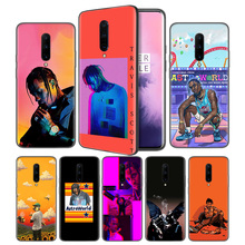 travis scott astroworld Soft Black Silicone Case Cover for OnePlus 6 6T 7 Pro 5G Ultra-thin TPU Phone Back Protective