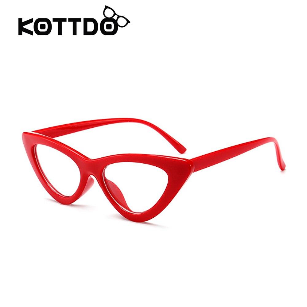 Neue Schwarz Rot Weiß Kleine Katze Auge Frauen Brillen Frames Marke ...