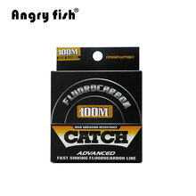 Angryfish 100% Fluorocarbon Fishing Line  100m Transparent Carbon Monofilament Line  Super Strong Free Shipping