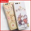 Caso vpower para huawei honor 8 alívio 3d macio tpu transparente caso tampa do telefone dos desenhos animados para huawei honor8 shell
