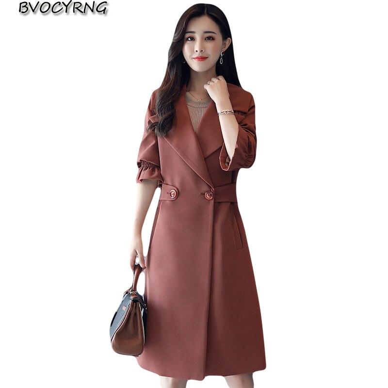 2017European Fashion Womens Autumn Winter Cloth Coat Winter Plus Size Jacket Dust Coat Female Temperament Slim Long Parka Q928