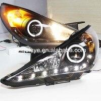 LED Фары для автомобиля для Hyundai Sonata YF Sonata i45 спереди с Angel Eye 2009-2014 год SN