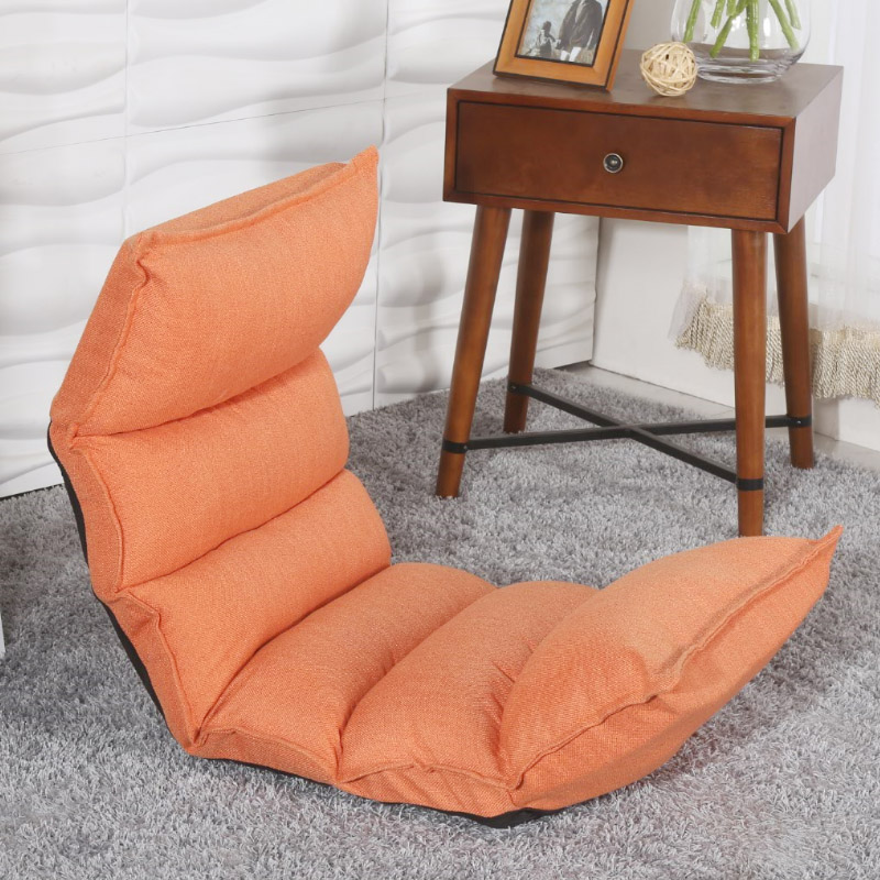 Elegant Chaise Lounge Floor Seating Living Room Furniture Sofa Chair Position Adjustable Reclining Daybed Sleep