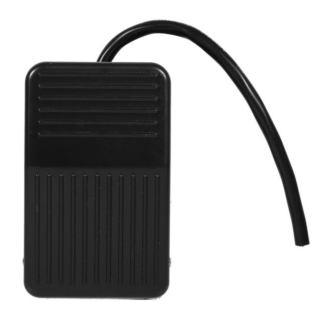 1pc 220V 10A Electrical Power Plastic Foot Pedal Pressure Switch On/Off Control Black Color + 10cm Cord