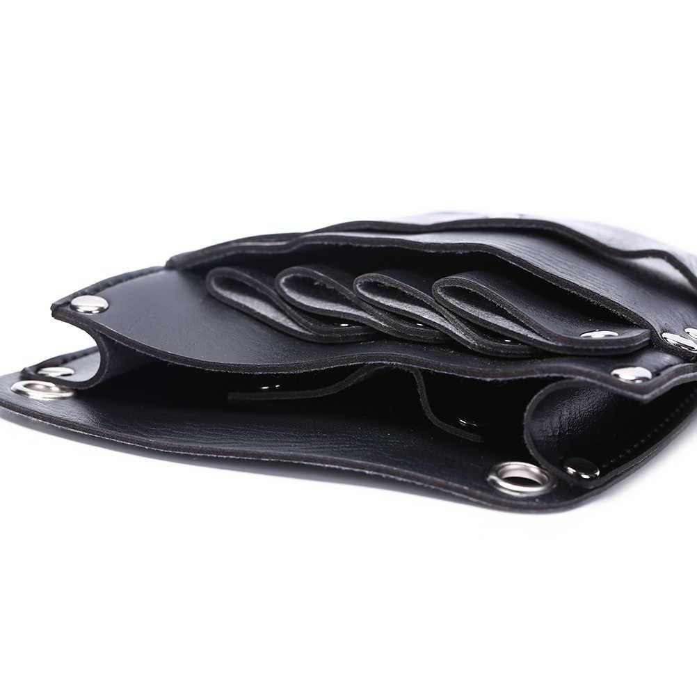 PU cuir barbier cheveux ciseaux sac coiffure étui support de pochette étui Rivet Clips sac avec taille épaule ceinture cheveux outil