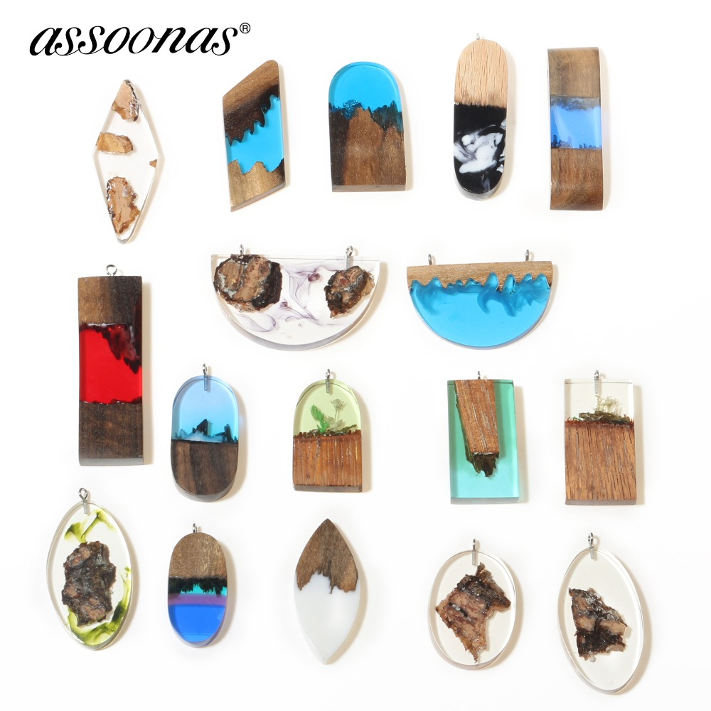 Assoonas M312,Wood Resin Pendant,jewelry Accessories,charm,jewelry Findings,handmade,jewelry Making,diy Earrings 1pcs/lot