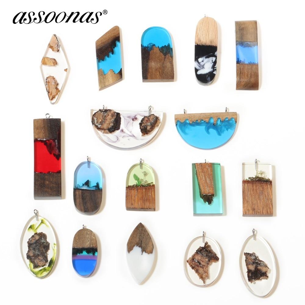 Assoonas M312,Wood Resin Pendant,jewelry Accessories,charm,jewelry Findings,handmade,jewelry Making,diy Earrings 1pcs/lot