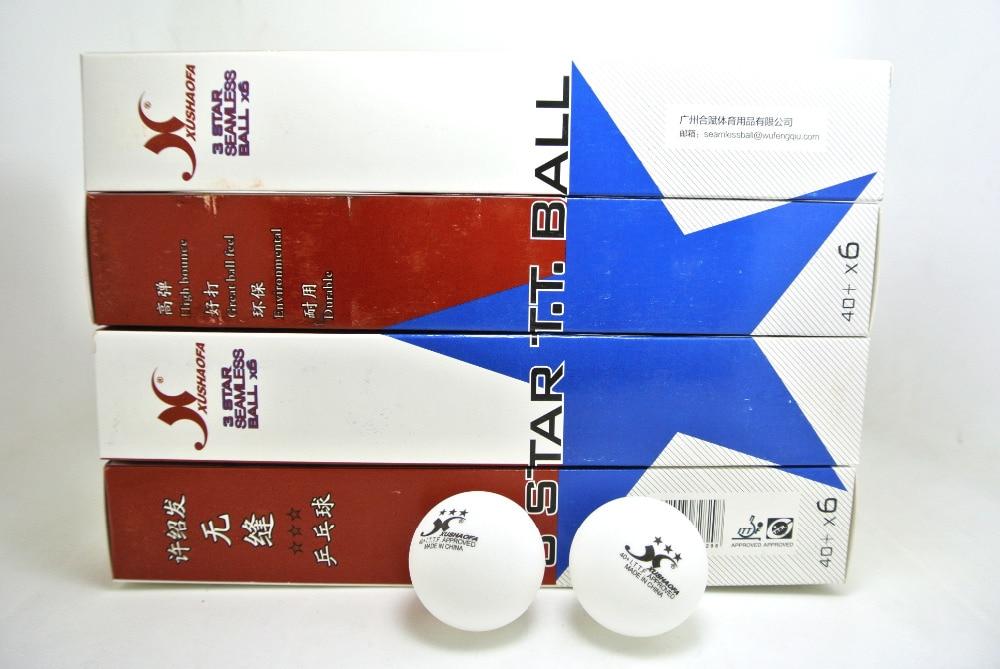 WholeSale XUSHAOFA 3 star 40 New Material Seamless PP BallTable Tennis ball ping pong ball 10boxes