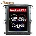 Tesla stil Android Auto GPS-Navigation Für TOYOTA LAND CRUISER LC100 03 steuergerät multimedia radio band recorder keine DVD-player 4 K