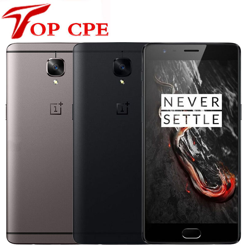 "Original One plus 3T 6GB 64GB EU Version OnePlus 3T A3003 4G Mobile Phone 5.5"" Android Snapdragon 821 NFC Dual card Smartphone(China)"