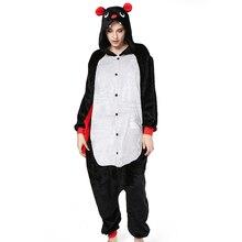 цена Kigurumi Animal Pajamas Sets Women Cosplay Cartoon Pig Pijama Warm Flannel Sleepwear Winter 2019 Adults Sleepwear Hooded Onesie