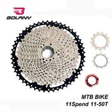 BOLANY 11 Speed Cassette 11-50T Freewheel Ratio Sprocket Steel Mountain MTB Bike Bicycle Flywheel For Shimano
