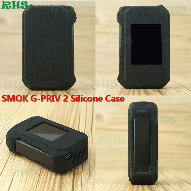 5pcs Ash Free Wholesale food grade dust proof silicone case/skin/sleeve/cover/sticker/wrap for SMOK G-PRIV 2 230W good quality image