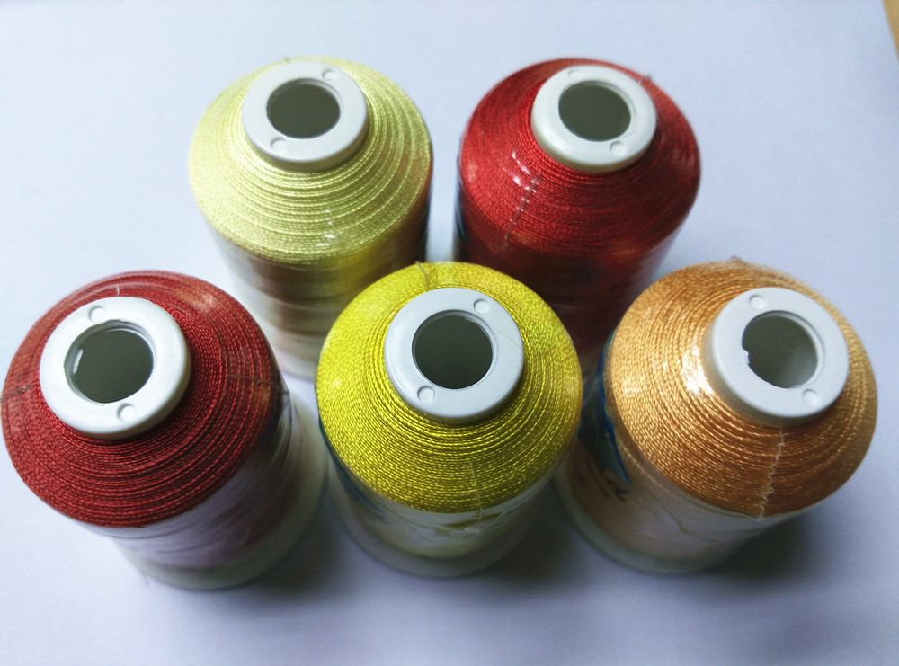 5 Different Red & Yellow color machine rayon embroidery thread 800m/cone Brother /Bernina embroidery machines