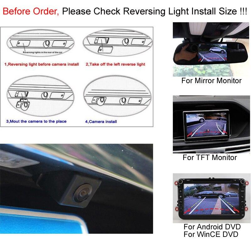 Intelligent Dynamic Trajectory Tracks Parking Reverse Backup Camera Rearview Camera For Hyundai Elantra 2011 2012 Kia Ceed 5