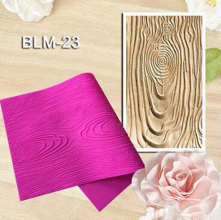 New Arrival 1 Pc Woodgrain Fondant Impression Mat Silicone Lace