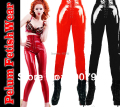 New 201 Women Fetish Gothic Sexy Shinny Glass Four Way Stretch PVC Vinyl Latex Look Lace Up Legging Celebrity Pants Leggins