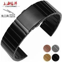 20MM 22mm 23MM Stainless Steel Watch Bands for Fitbit blaze Samsung Gear S2 S3 Frontier Strap Classic Smart Watch Bracelet