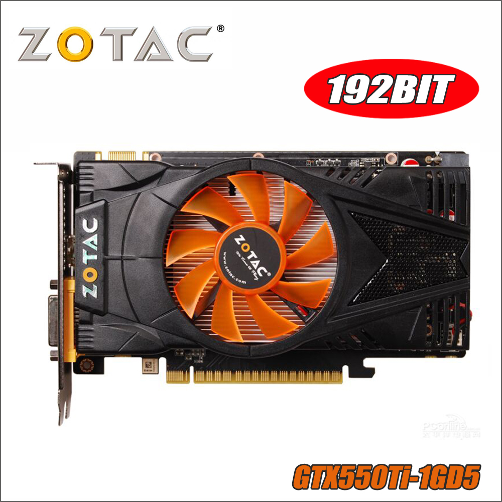 Used ZOTAC Video Card GeForce GTX 550 Ti 1GB GDDR5 Graphics Cards for nVIDIA Map GTX550Ti Internet Cafes GTX 550TI 1GD5 Dvi VGA