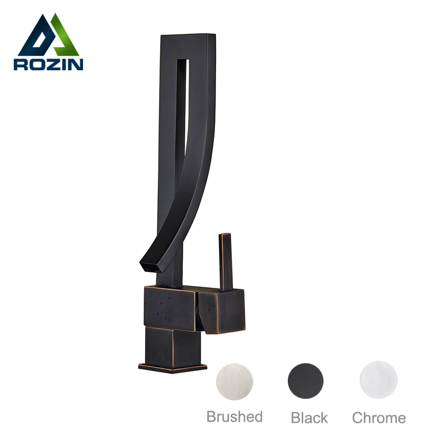 Deck Mount Black Basin Sink Faucet Creative Design Bathroom Mixers with Hot and Cold Water Lavatory Sink Taps pastoralism and agriculture pennar basin india