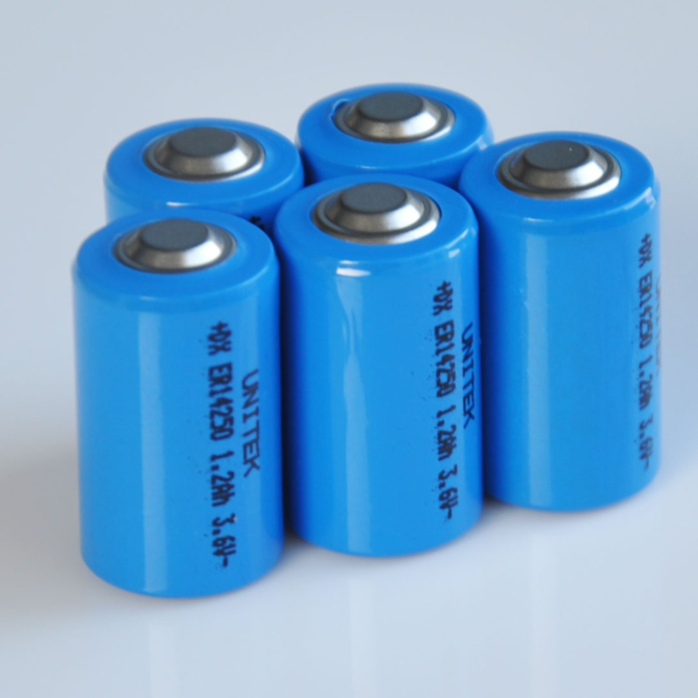 5-pack 14250 3.6V <font><b>1/2AA</b></font> liSOCL2 Lithium <font><b>battery</b></font> cell ER14250 1200mah PCL <font><b>battery</b></font> replace for SAFT LS14250 TL-5902 SL-550 image