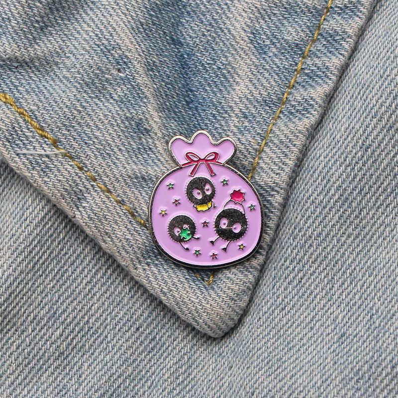 Ruhların Kaçışı Fairydust Çinko alaşımı kravat pimleri rozetleri para tişört çanta giysi kapağı sırt çantası ayakkabı broş madalya süslemeleri E0349