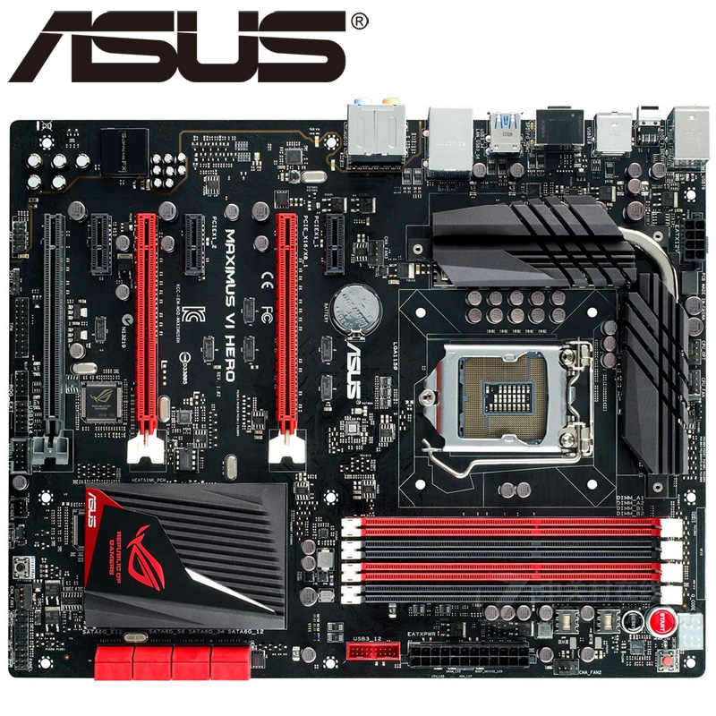 Asus Maximus VI Hero Desktop Motherboard Z87 Socket LGA 1150 i3 i5 i7 DDR3 32G ATX UEFI BIOS Original Used Mainboard Hot Sale