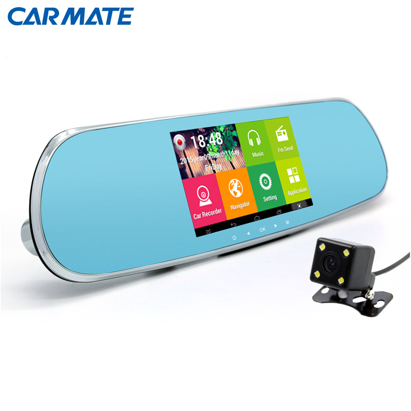 5 0 Touch Car font b GPS b font navigation Rearview Mirror 1080P Car DVR Dual