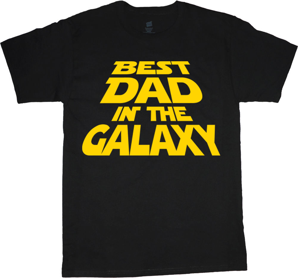 Fashion T-Shirt Men Clothing t-shirt for men funny fathers day gift idea best dad in the galaxy