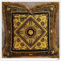 Double Side Printing Royal Luxury Gold Design Flower Throw Pillowcase Cojin Home Floral Decorative Cushion Covers